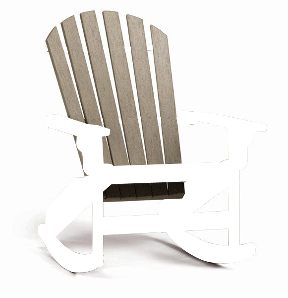 Quick Ship Coastal Adirondack Rocker (black/cedar)
