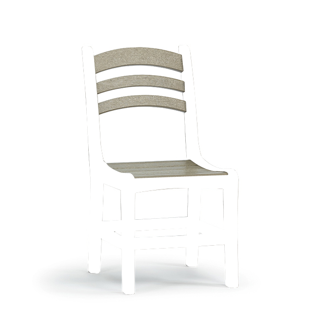 Quick Ship Avanti Dining Side Chair (black/cedar)