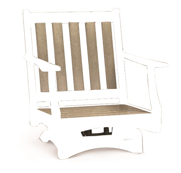 Piedmont Club Swivel Rocker