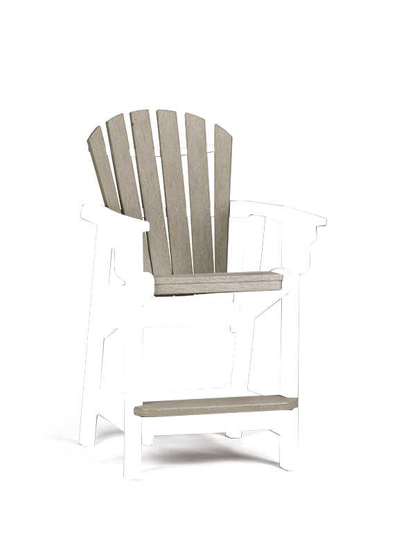 Quick Ship Coastal Counter Chair