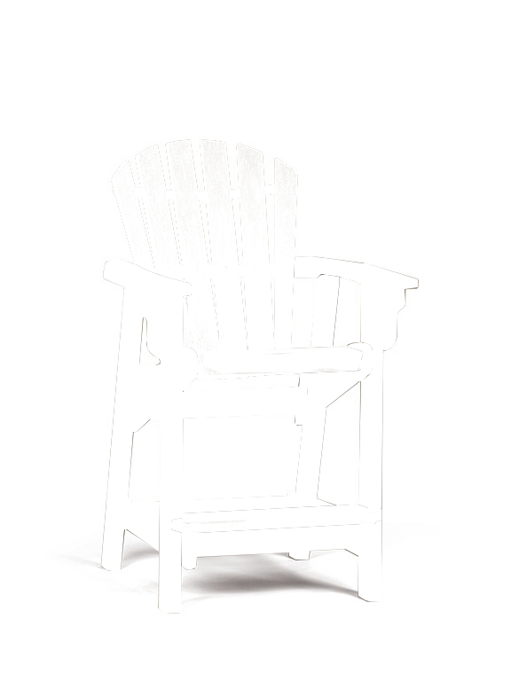 Quick Ship Coastal Counter Chair