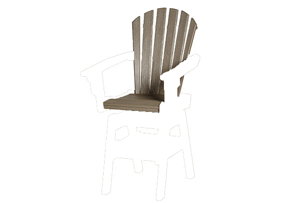 Coastal Swivel Bar Chair