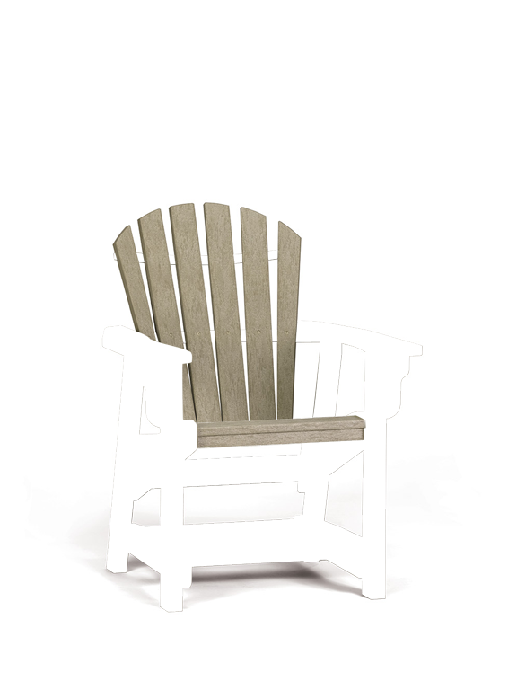 Quick Ship Coastal Dining Chair (black/cedar)
