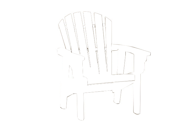 Quick Ship Coastal Upright Adirondack Chair